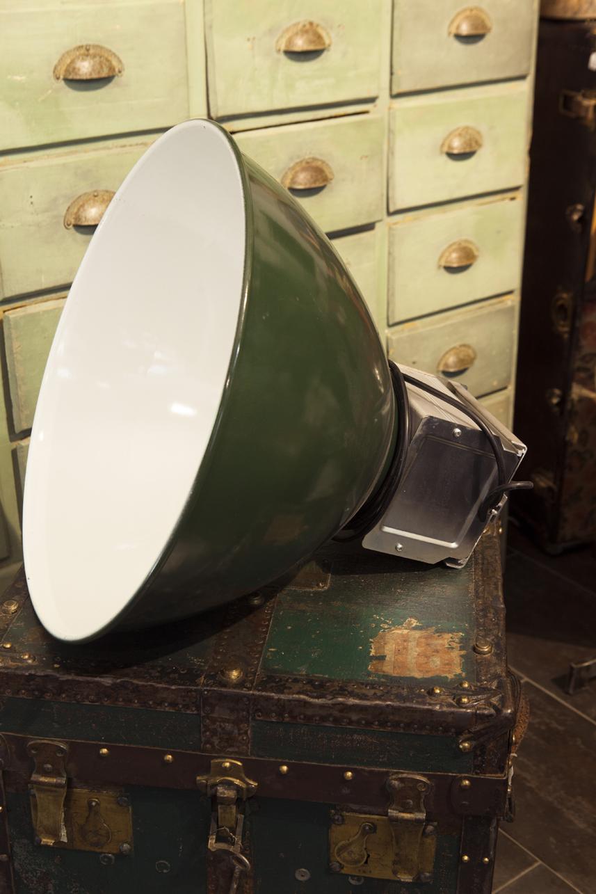 lampada industriale verde lampada industriale francese colore verde ...
