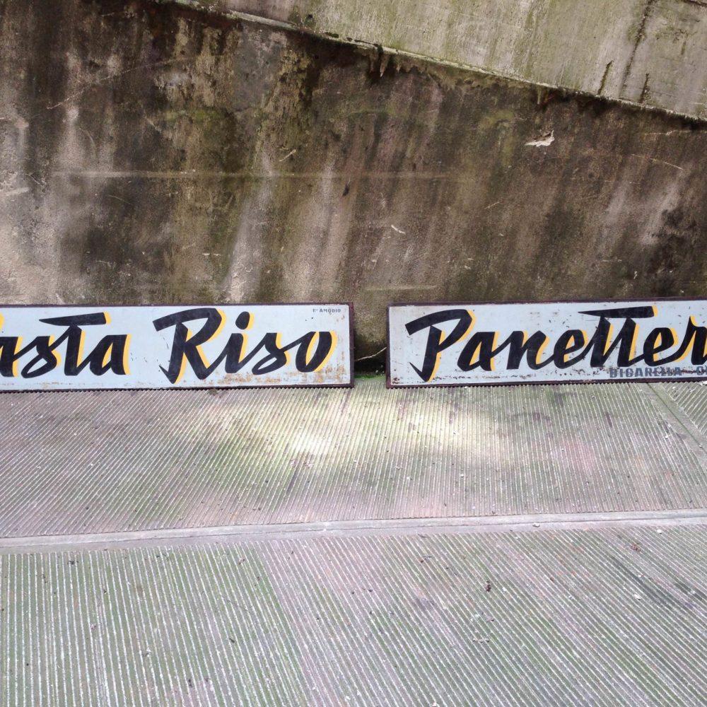 INSEGNE PASTA RISO E PANETTERIA ANNI '50
