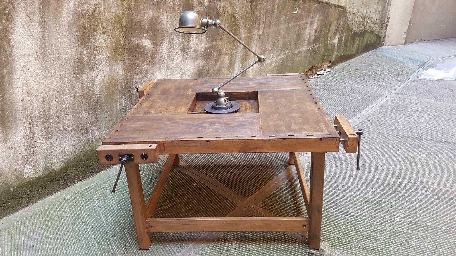 Tavoli Da Lavoro Vintage : Tavolo banco da falegname neoretrò