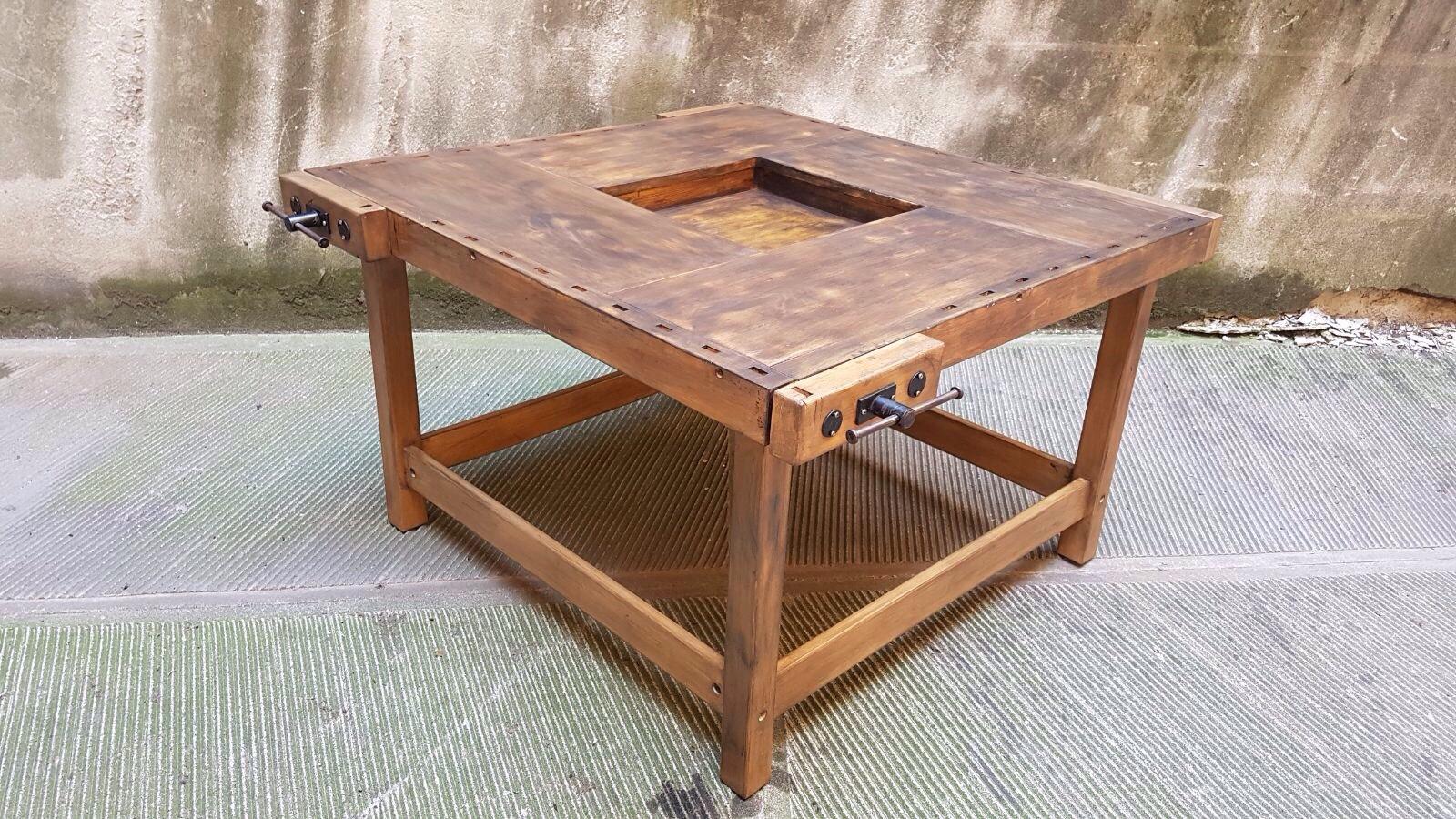 Banco Di Lavoro Falegname : Tavolo banco da falegname neoretrò