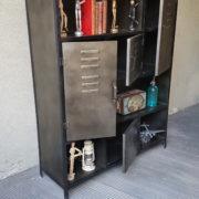 Mobile in ferro con vani a vista, libreria industrial