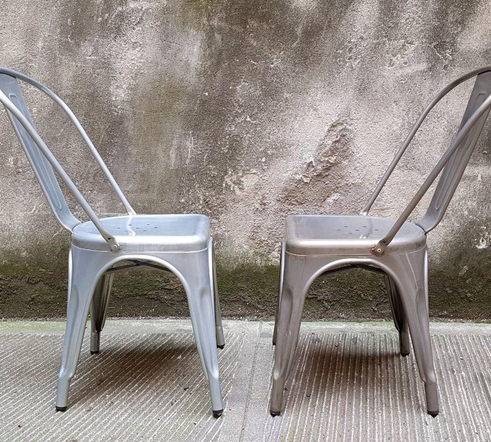 repliche sedie tolix mod argento e mod galvanized neoretr