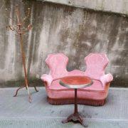 Divanetto 2 posti velluto anni'40, divano vintage