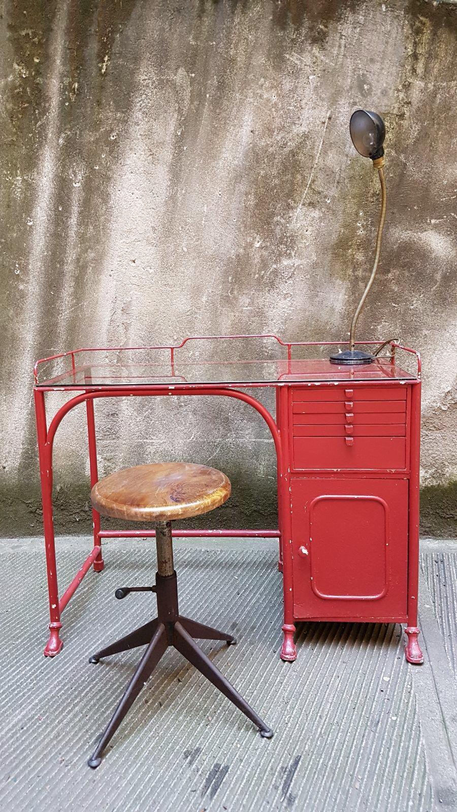 Scrivania studio medicale primi 900 neoretr - Mobili in ferro vintage ...