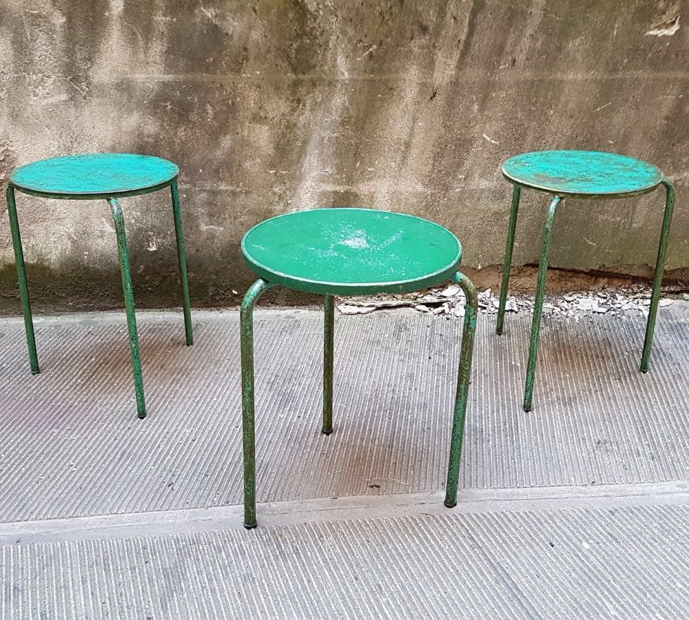 Popolare Tavolini tondi da bistrot impilabili - NeoRetrò EE88