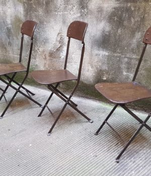 Sedie pieghevoli ferro anni '40