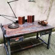 Tavolo Scrivania legno in patina