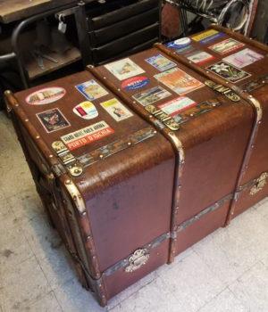 Antico baule da viaggio Cassettiera