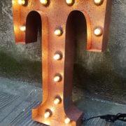 LETTERE LUMINOSE CON LAMPADINE (ULTIME 4)