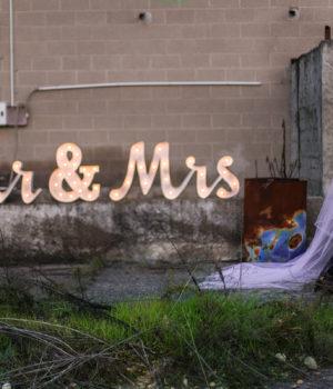 SCRITTA LUMINOSA 'MR & MRS' (vedi sezione 'Wedding Service')