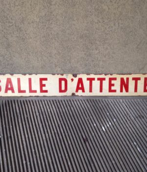PLACCA 'SALLE D'ATTENTE'