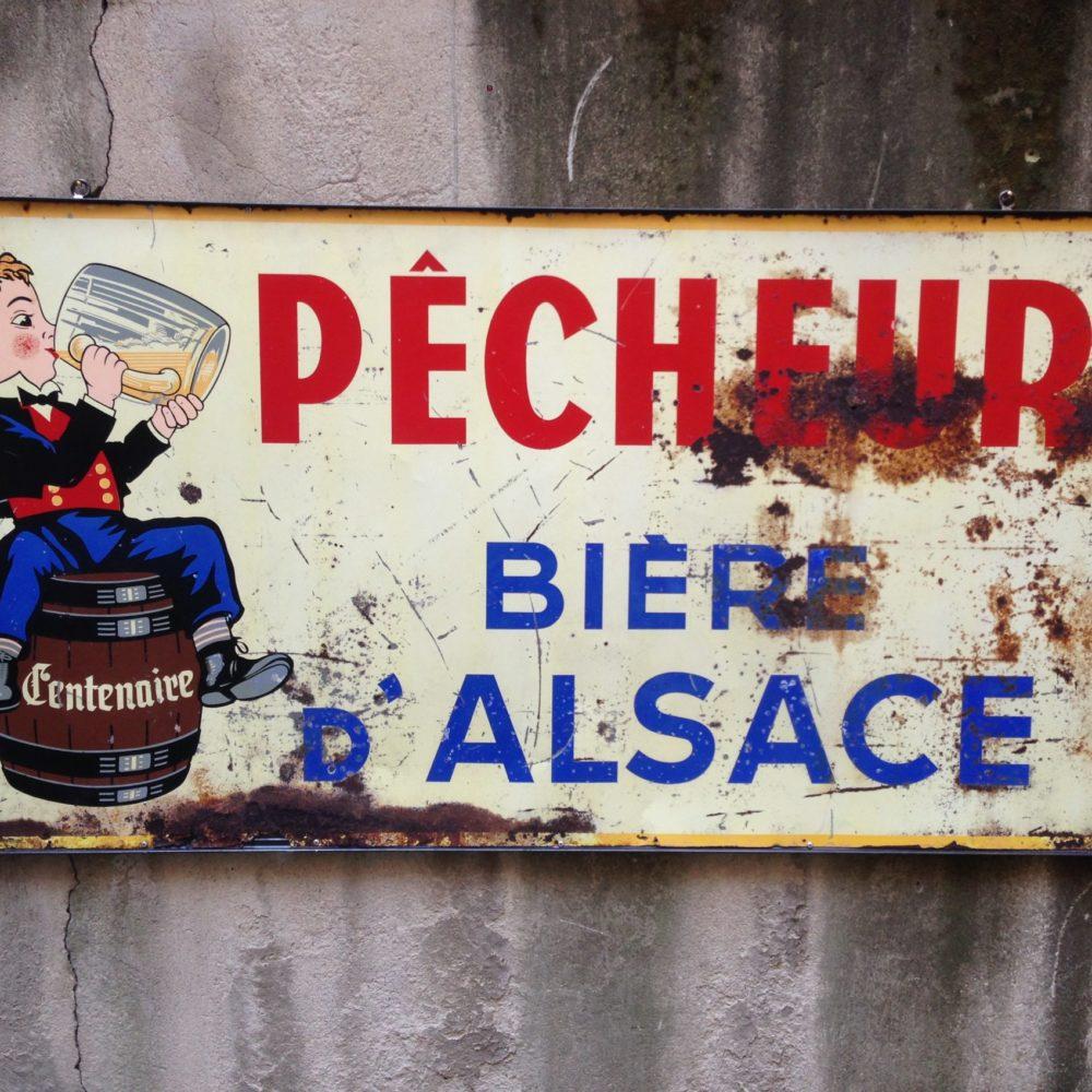VECCHIA INSEGNA PUBBLICITARIA BIERE D'ALSACE
