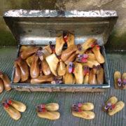 Forme scarpe in legno vintage vecchio calzolaio