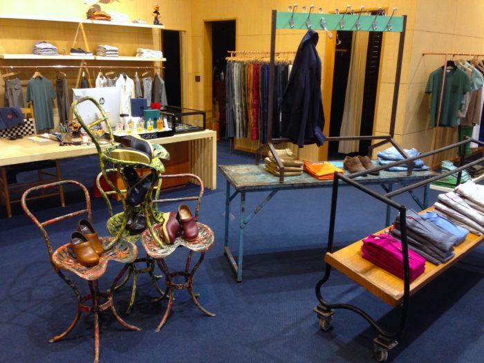 Allestimento vintage per scenografia negozio, noleggio