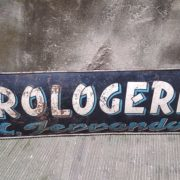 Insegna Orologeria anni '30, targa in ferro