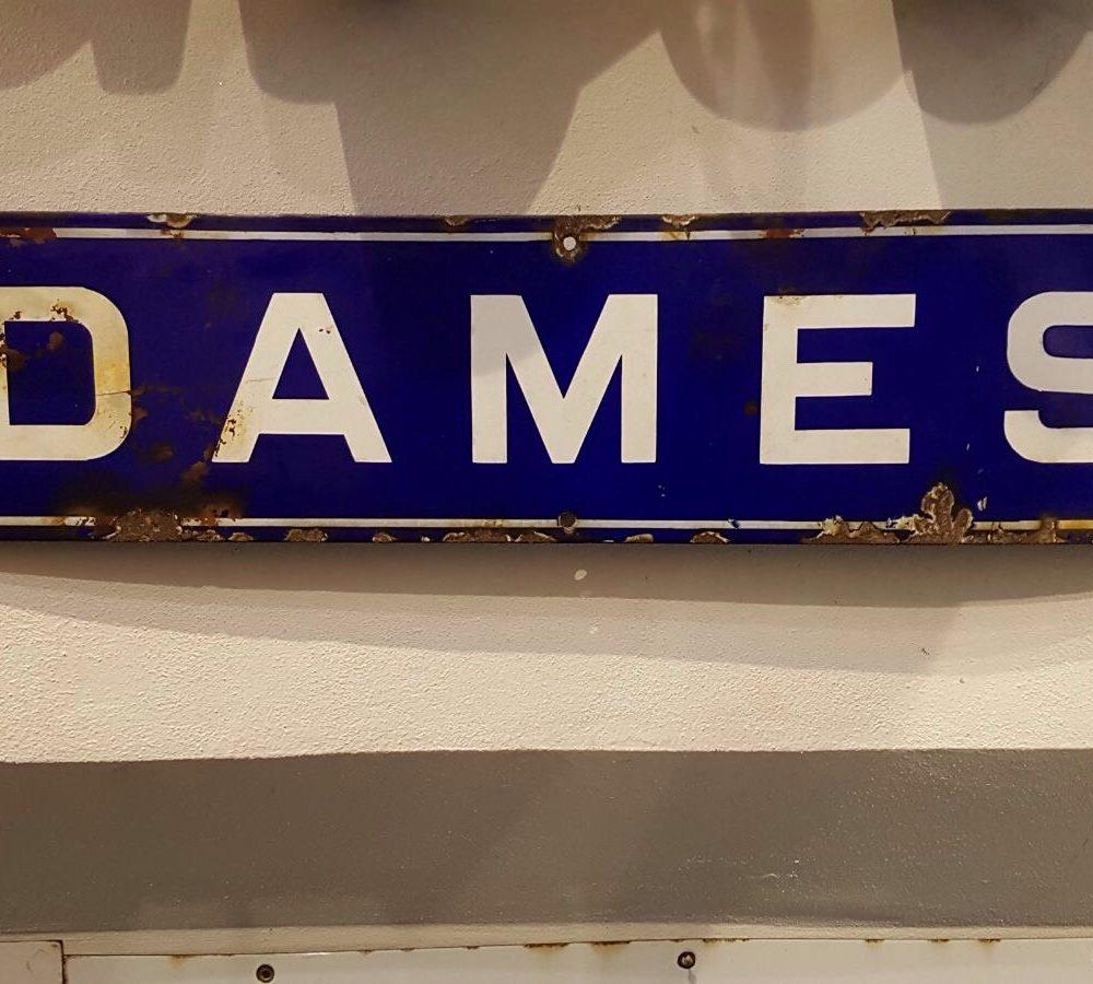 Antica Targa francese Dames, vecchia insegna