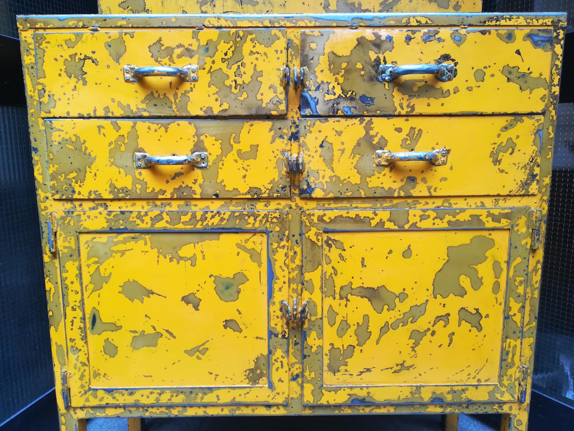 Cassettiera Da Officina Usata.Mobile Da Officina In Patina Neoretro