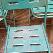 Sedie ferro anni '50 (verdi)