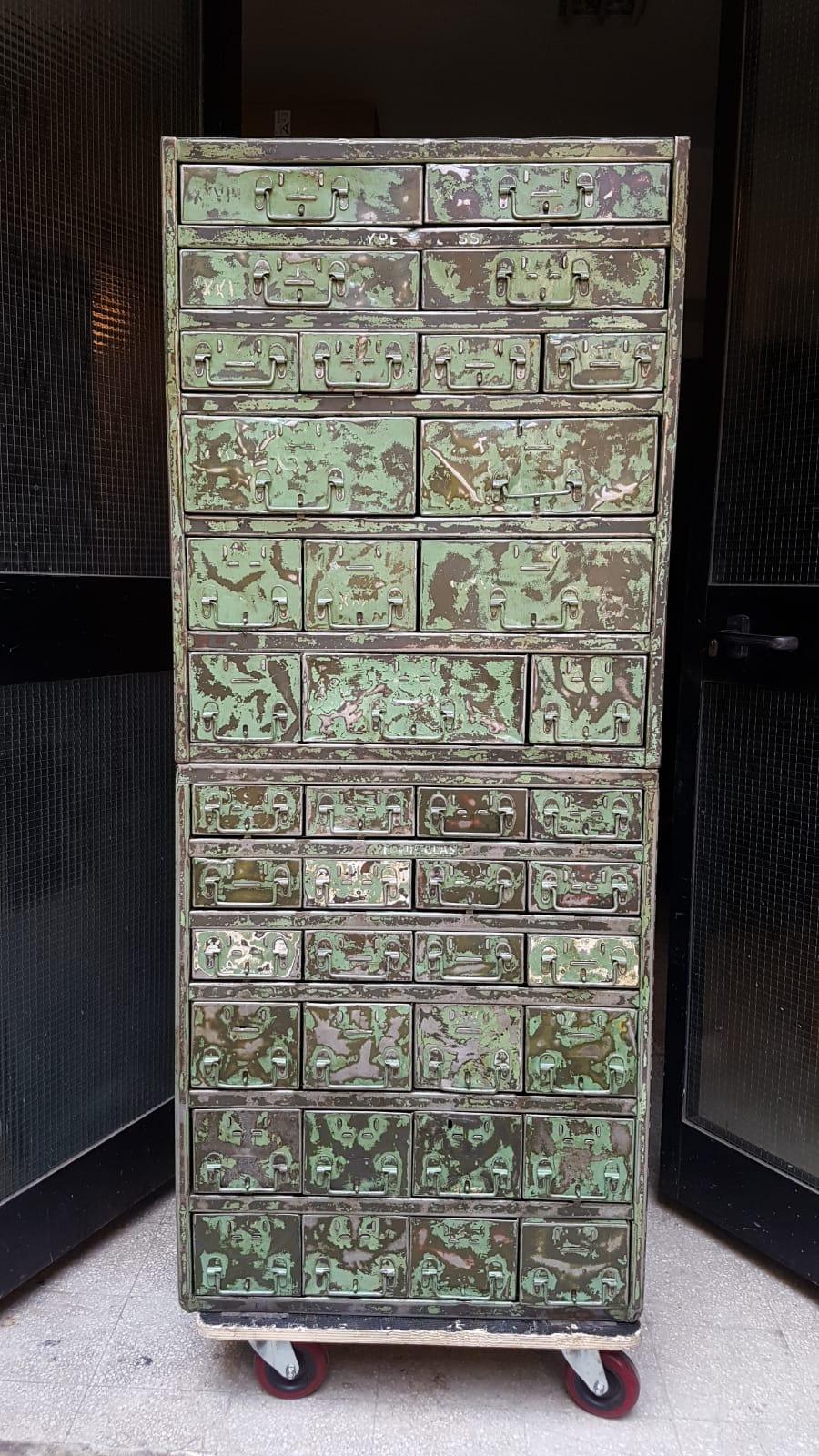 Cassettiera ferro Patinata - NeoRetrò