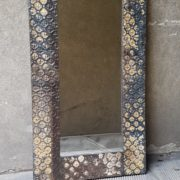 Specchio con cornice 'tin'
