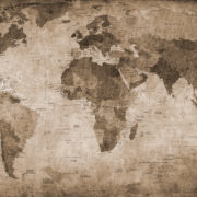 Brown World Map_Rebel Wall