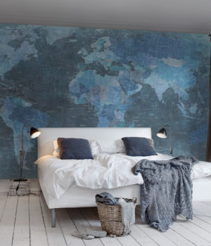 Blue Map of the world_Rebel Walls