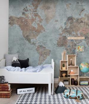 Cartina mondo_Rebel Walls