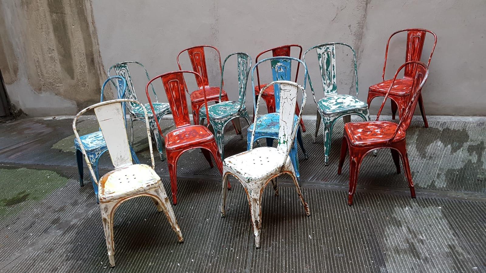 Sedie In Metallo Usate : Sedie metallo vintage usate showroom arredamento cesano maderno