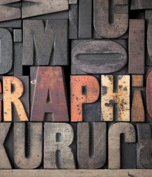 Typography Mold 'Graphic' Wallpaper