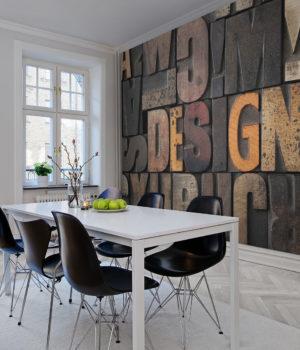 Typography Mold 'Design' Wallpaper