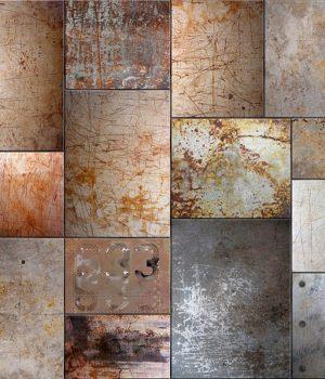 Rust Metal Puzzle Wallpaper