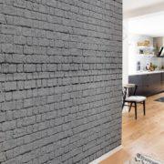 Grey brick wall Wallpaper