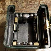 Beauty case in pelle completo