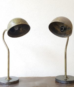 Lampade ex officina in ottone