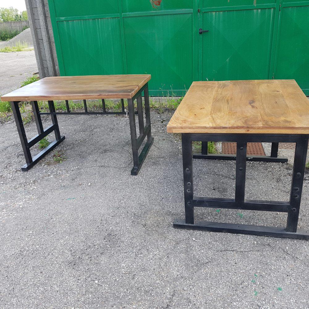 Tavoli legno ferro industrial