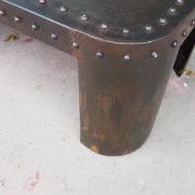 tavolino basso rivettato coffee table ferro