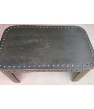 tavolino basso rivettato coffee table ferro