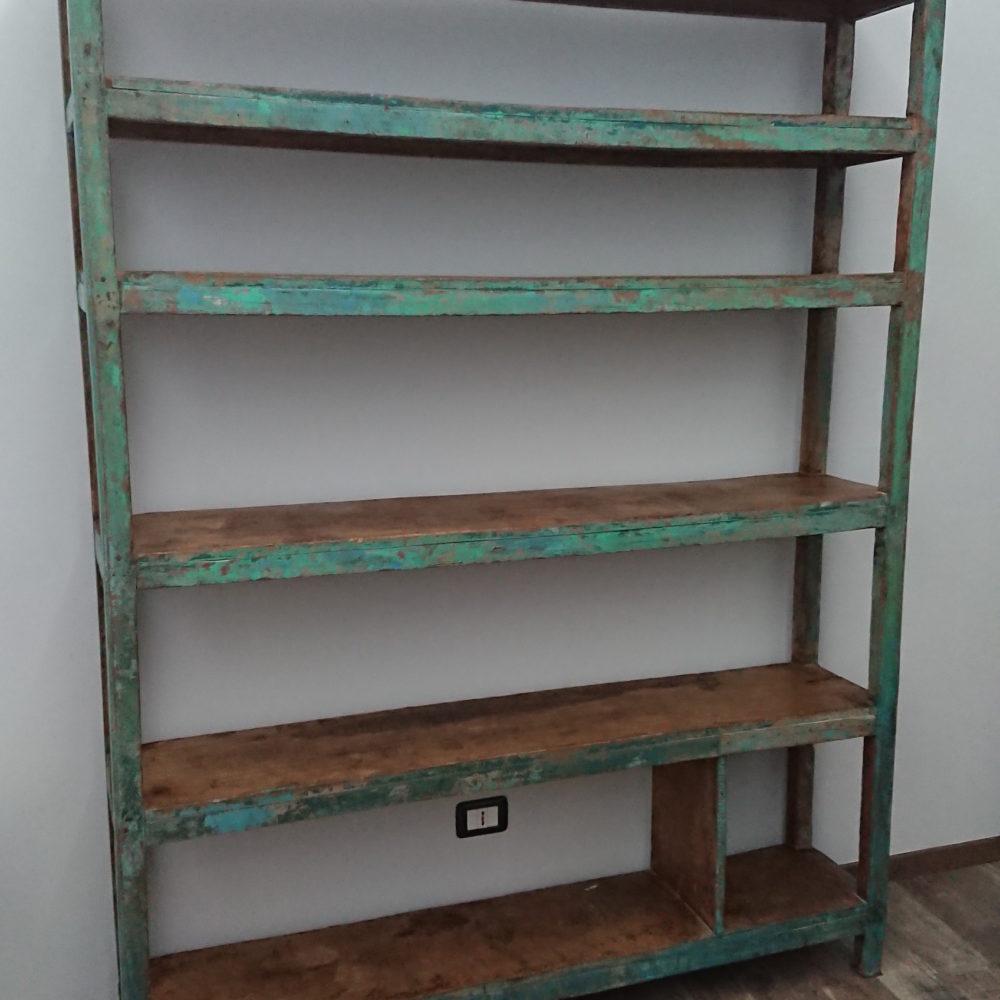Scaffalatura legno patina originale