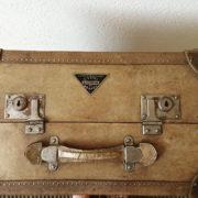 Valigia Baule pergamena anni '40