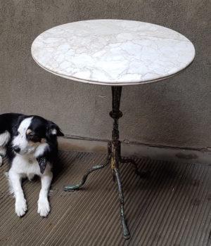 Tavolino Bistrot ripiano marmo