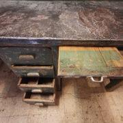 Banco da Lavoro legno e zinco anni '40