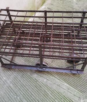 Carrello portabottiglie ferro