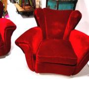 Salotto Velluto Rosso