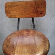 Sgabelli artigianali ferro legno