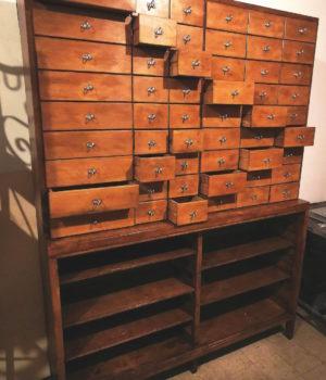 Cassettiera legno anni 60