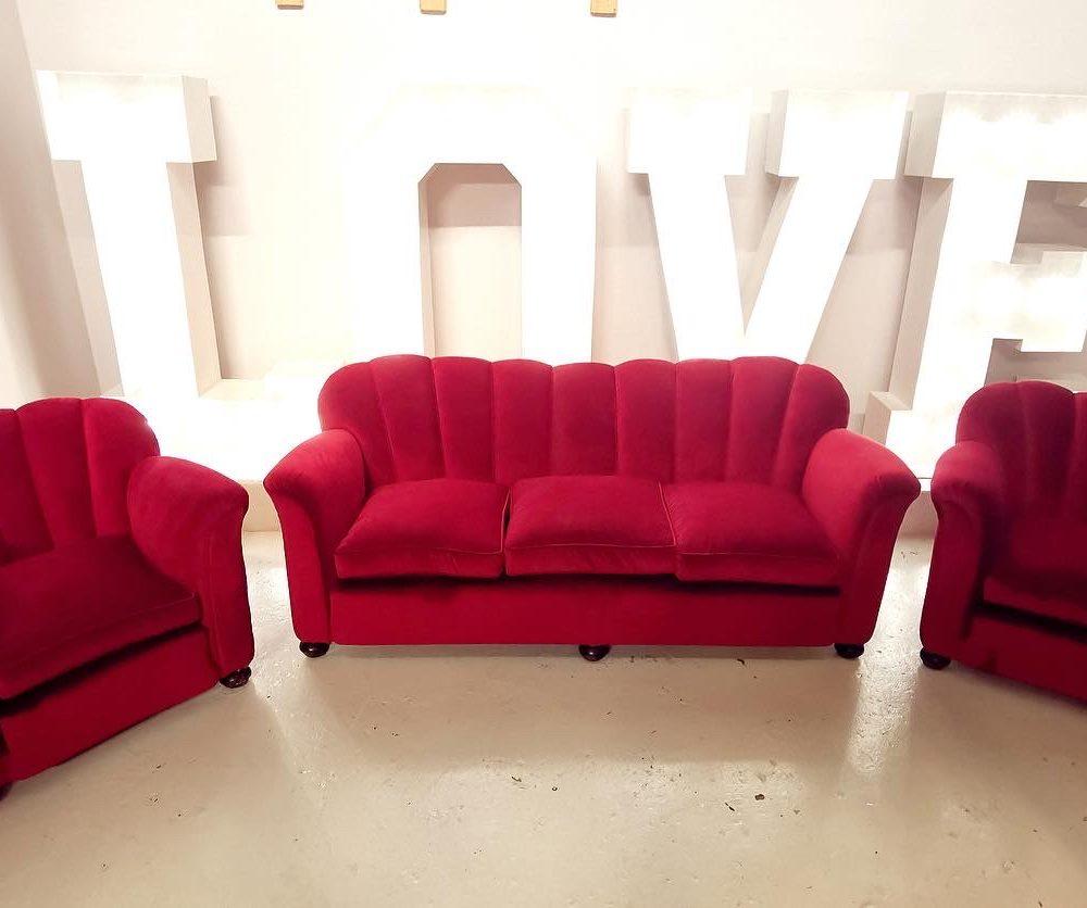 Salotto rosso anni '40